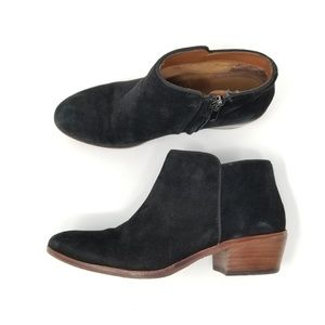 Sam Edelman Black Suede Petty Ankle Bootie 7.5